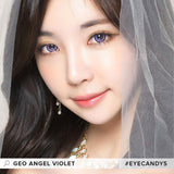 GEO Angel Violet colored contacts circle lenses - EyeCandy's
