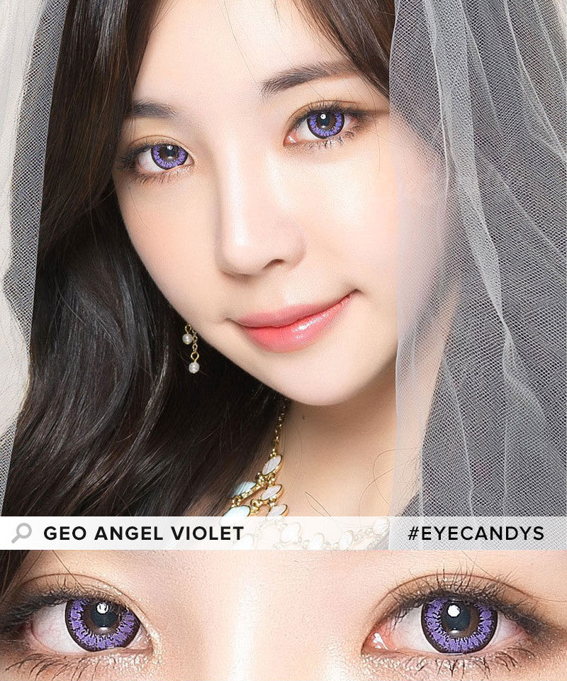 Buy GEO Angel Violet Colored Contacts | EyeCandys
