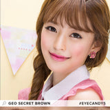GEO Secret Brown colored contacts circle lenses - EyeCandy's