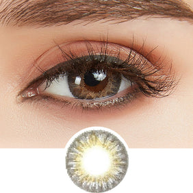 GEO Tri-Color Grey colored contact lenses - EyeCandys