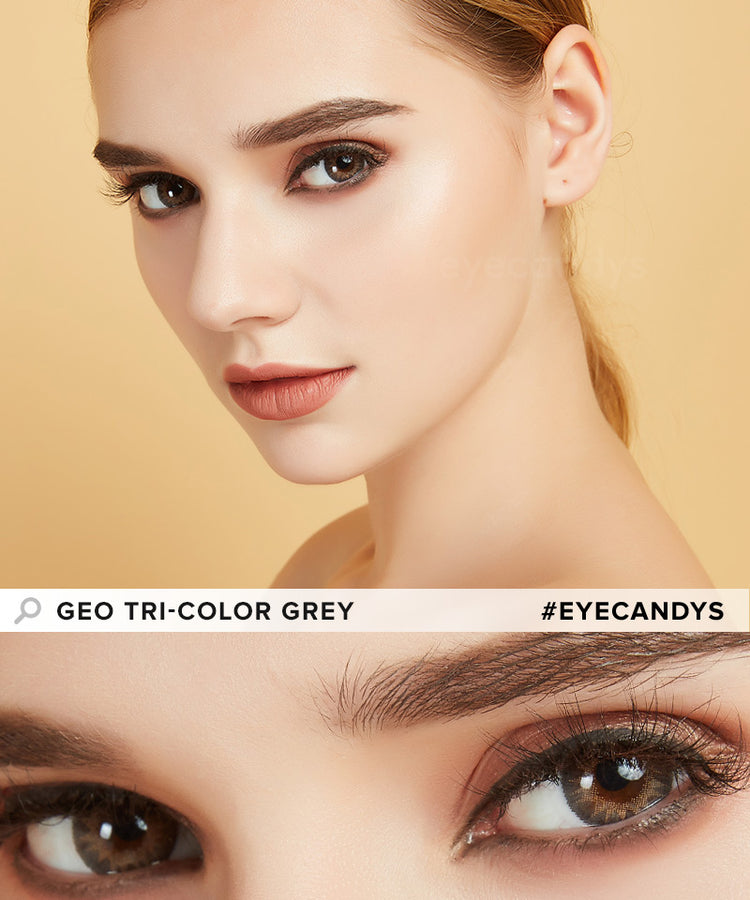 Buy GEO Tri-Color Grey Colored Contacts | EyeCandys