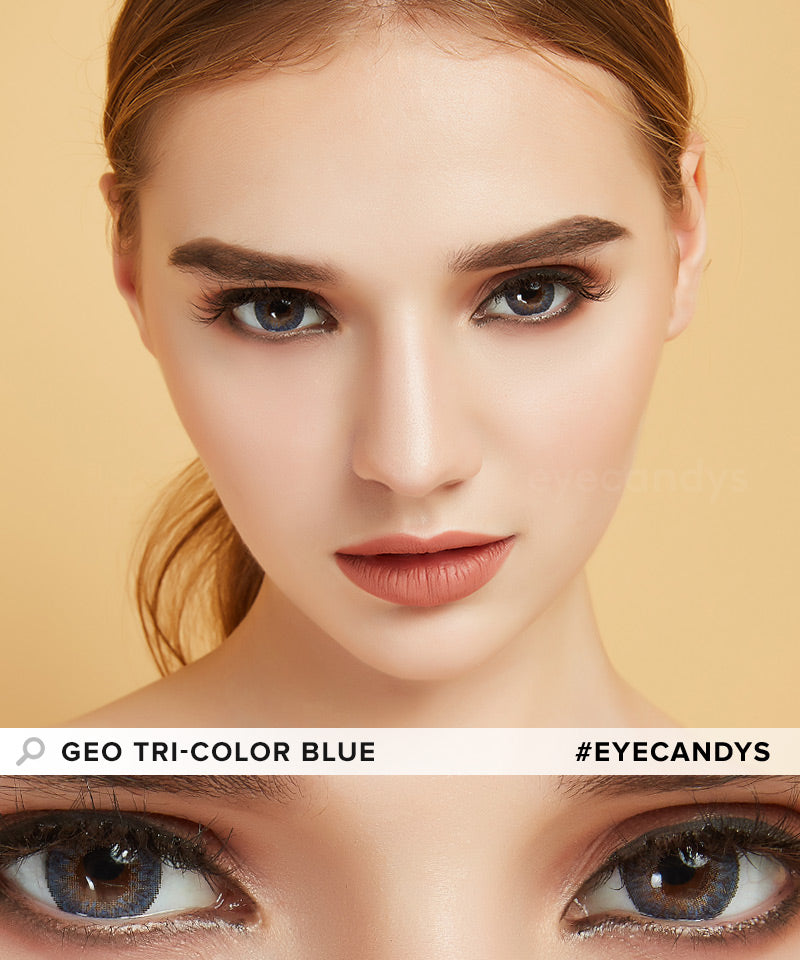 GEO Tri-Color Blue colored contact lenses - EyeCandys