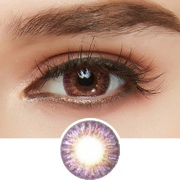 GEO Tri-Color Violet colored contact lenses - EyeCandys