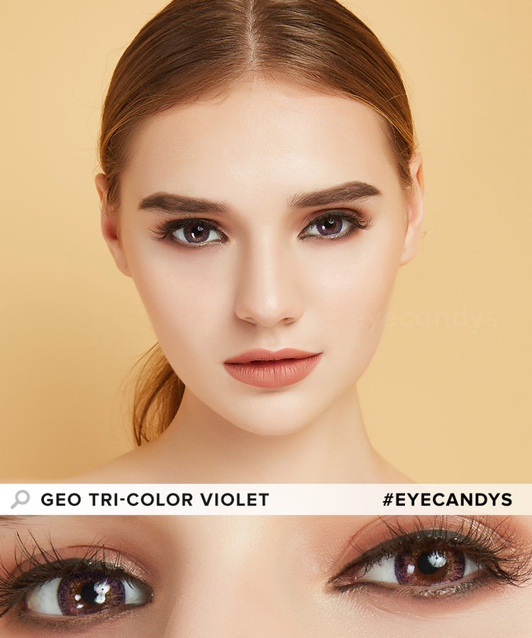 Buy GEO Tri-Color Violet Colored Contacts | EyeCandys