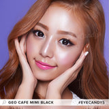 GEO Cafe Mimi Cappuccino Grey colored contacts circle lenses - EyeCandy's