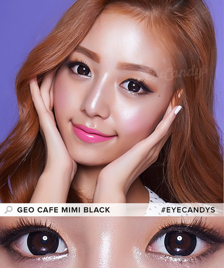 Buy GEO Cafe Mimi Cappuccino Grey Colored Contacts | EyeCandys