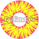GEO Animation Red Yellow Fireball colored contact lenses - EyeCandys