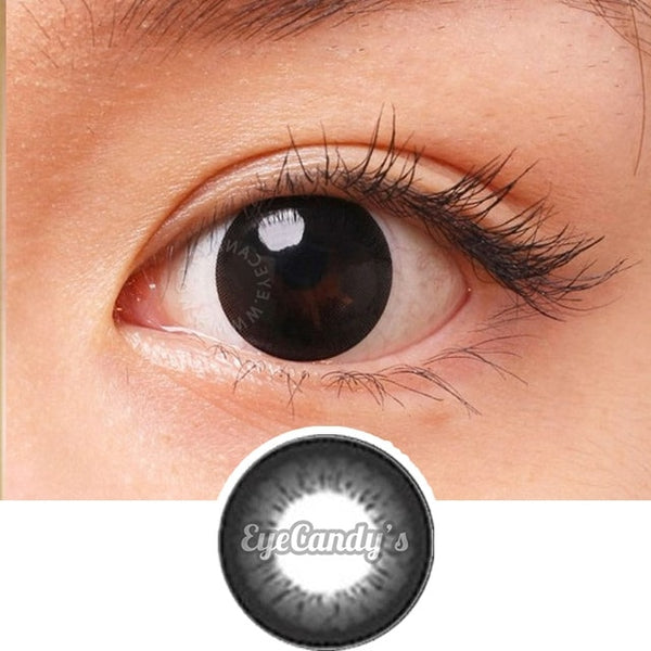 GEO Angel Black colored contacts circle lenses - EyeCandy's