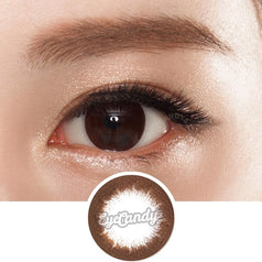 GEO Jazz Brown colored contacts circle lenses - EyeCandy's