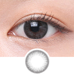 Clalen Iris M Grace Grey colored contacts circle lenses - EyeCandy's