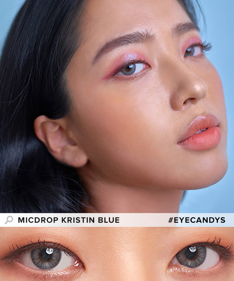 Buy Hapa Kristin Micdrop Kristin Blue Coloured Contact Lens | EyeCandys
