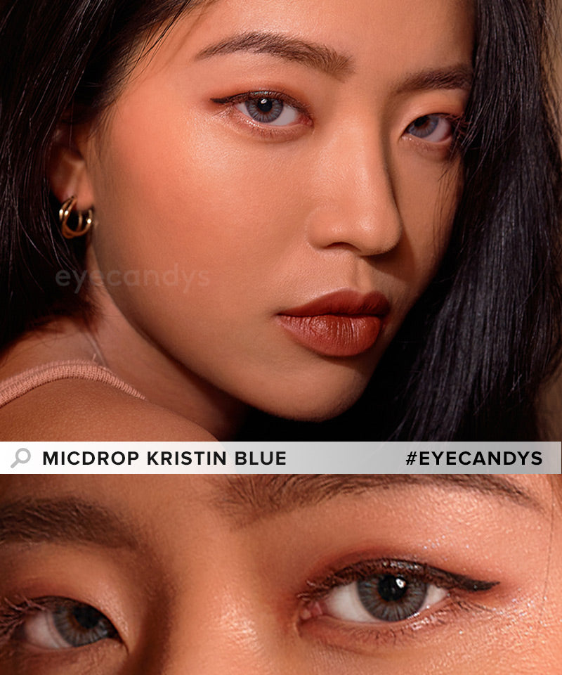Hapa Kristin Micdrop Kristin Blue colored contacts circle lenses - EyeCandy's