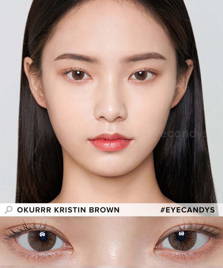 Buy Hapa Kristin Okurrr Kristin Brown Coloured Contact Lens | EyeCandys