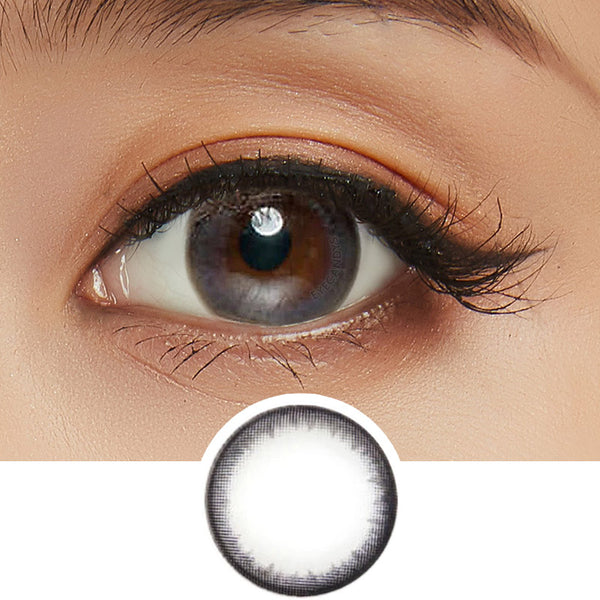 EyeCandys Pink Label Pearl Black colored contacts circle lenses - EyeCandy's
