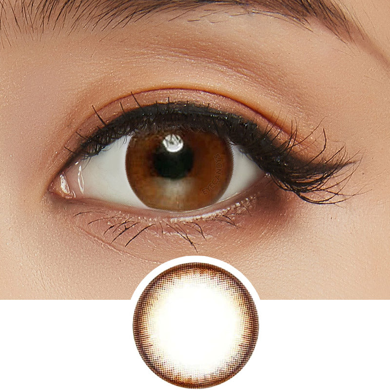 EyeCandys Pink Label Pearl Brown colored contacts circle lenses - EyeCandy's
