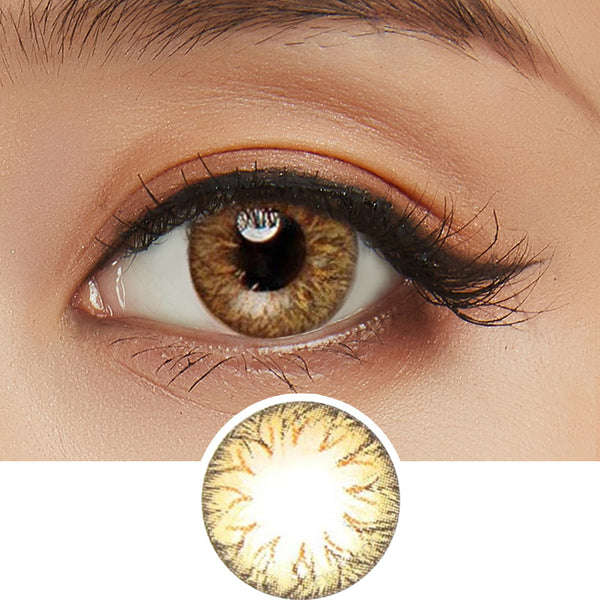 EyeCandy's Pink Label Soony Brown colored contacts circle lenses - EyeCandy's