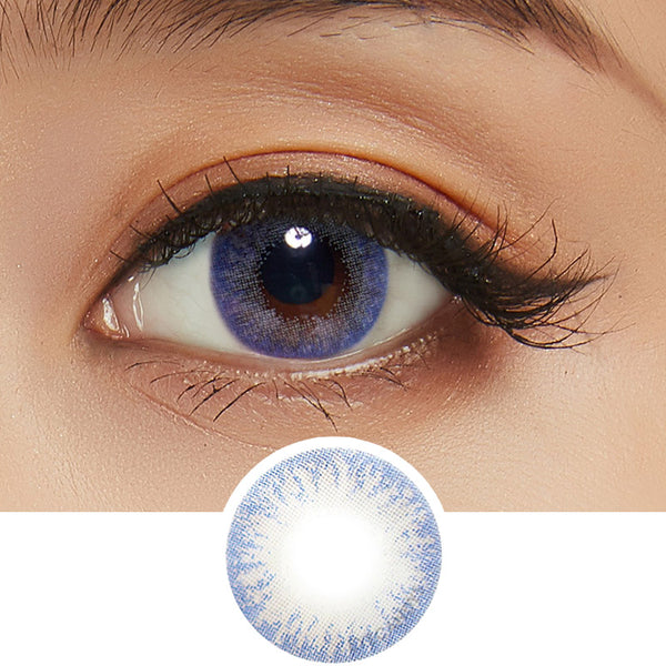 EyeCandys Pink Label Moonlight Blue colored contacts circle lenses - EyeCandy's