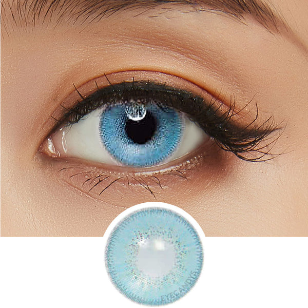 Innovision Luxury Blue colored contacts circle lenses - EyeCandy's