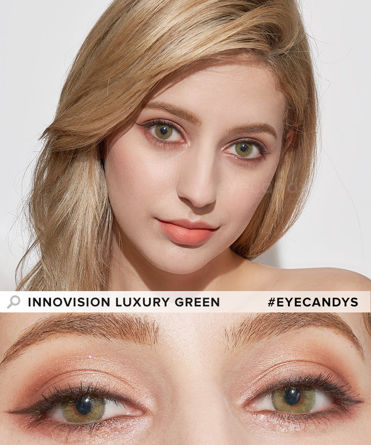 Buy Innovision Luxury Green Color Contacts | EyeCandys