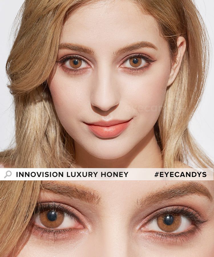 Buy Innovision Luxury Honey Color Contacts | EyeCandys