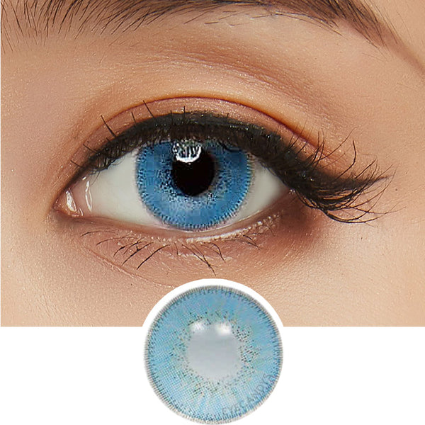 Innovision Luxury Sapphire colored contacts circle lenses - EyeCandy's