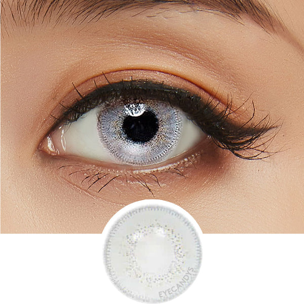 Innovision Luxury White Grey colored contacts circle lenses - EyeCandy's