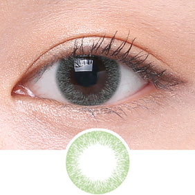Clalen Iris M Joy Green colored contacts circle lenses - EyeCandy's