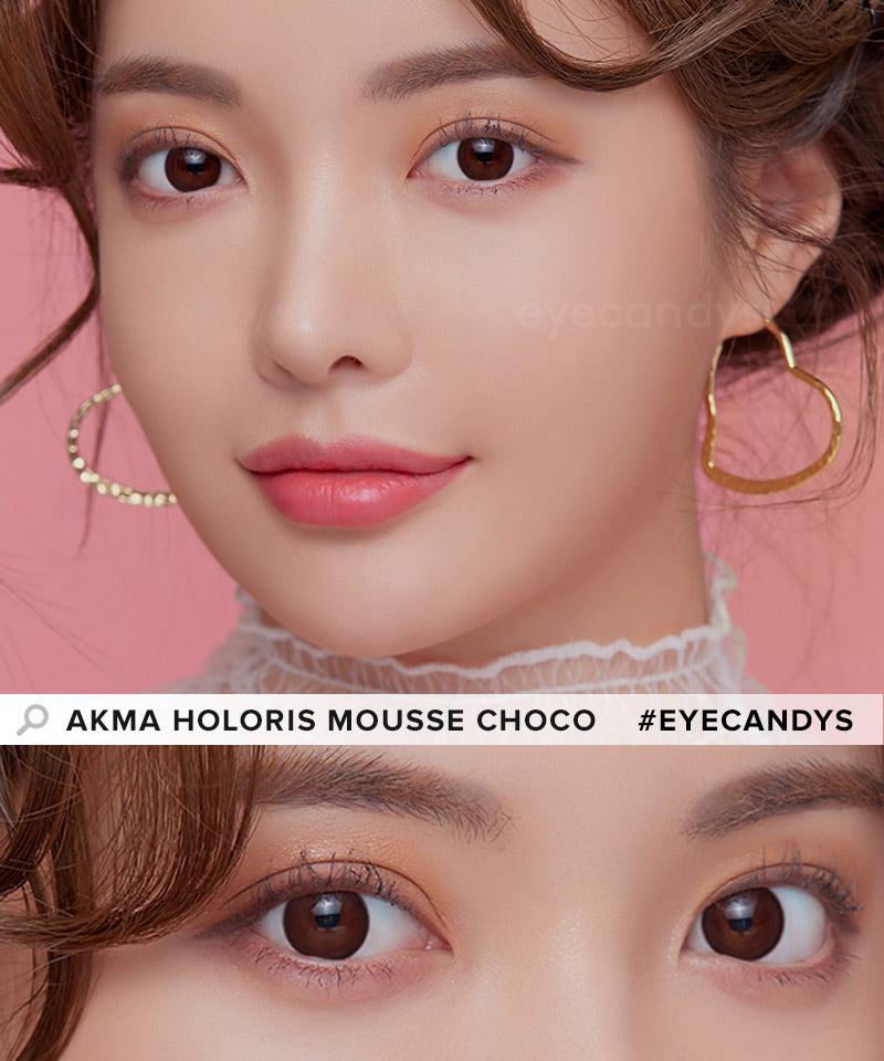 LensMe Akma Holoris Mousse Choco colored contacts circle lenses - EyeCandy's