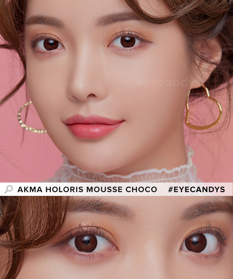 Buy LensMe Akma Holoris Mousse Choco Colored Contacts | EyeCandys
