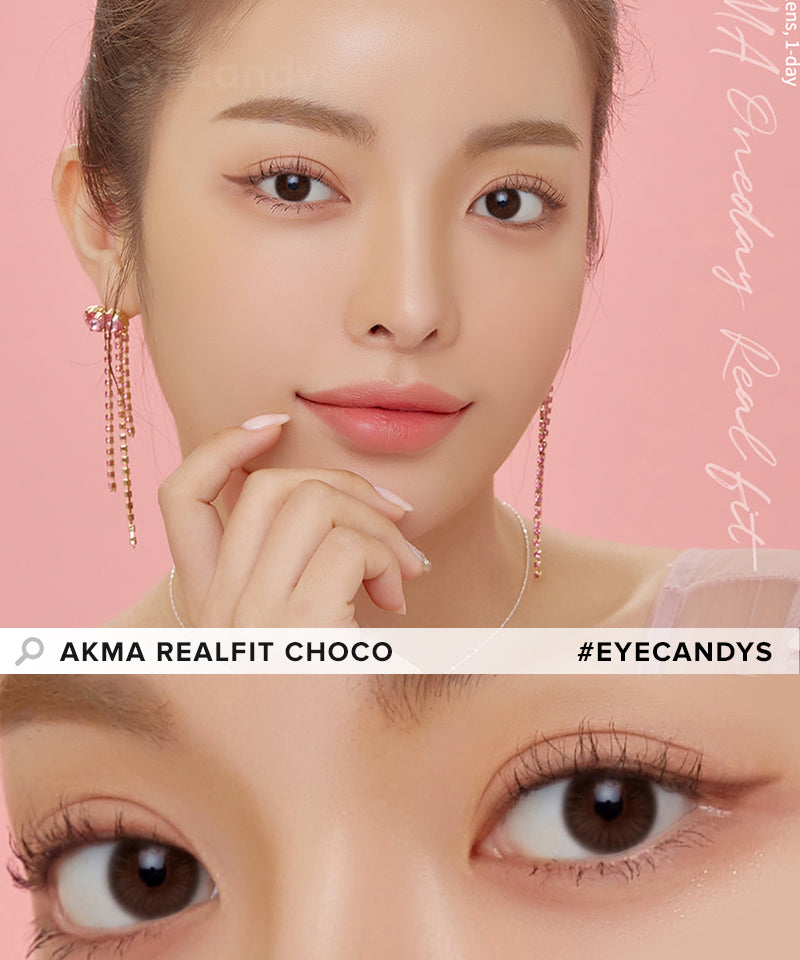 LensMe Akma RealFit Choco (30pk) colored contacts circle lenses - EyeCandy's