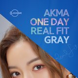 Load image into Gallery viewer, LensMe Akma RealFit Gray (30pk) colored contacts circle lenses - EyeCandy's