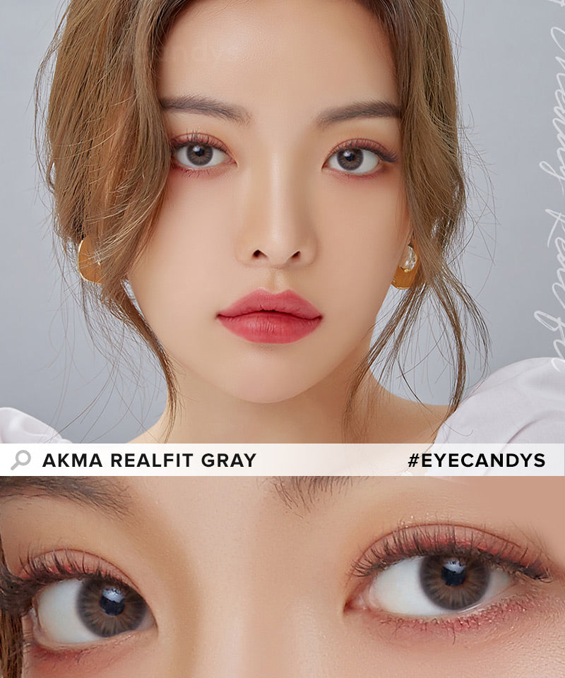 LensMe Akma RealFit Gray (30pk) colored contacts circle lenses - EyeCandy's