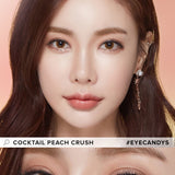 Load image into Gallery viewer, LensMe Cocktail Peach Crush colored contacts circle lenses - EyeCandy's