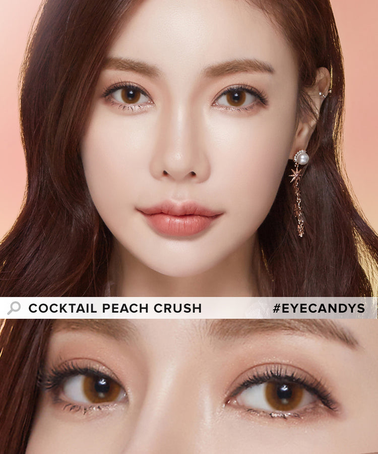Buy LensMe Cocktail Peach Crush Colored Contacts | EyeCandys
