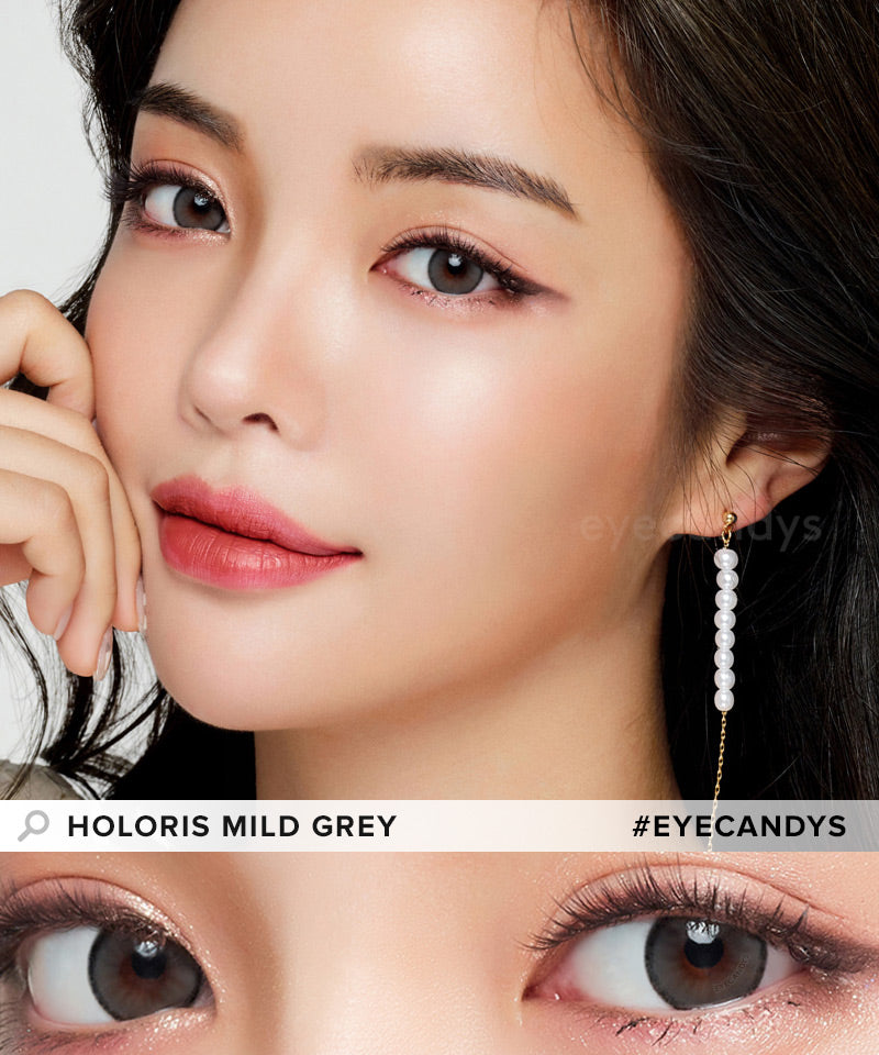 LensMe Holoris Mild Grey colored contacts circle lenses - EyeCandy's