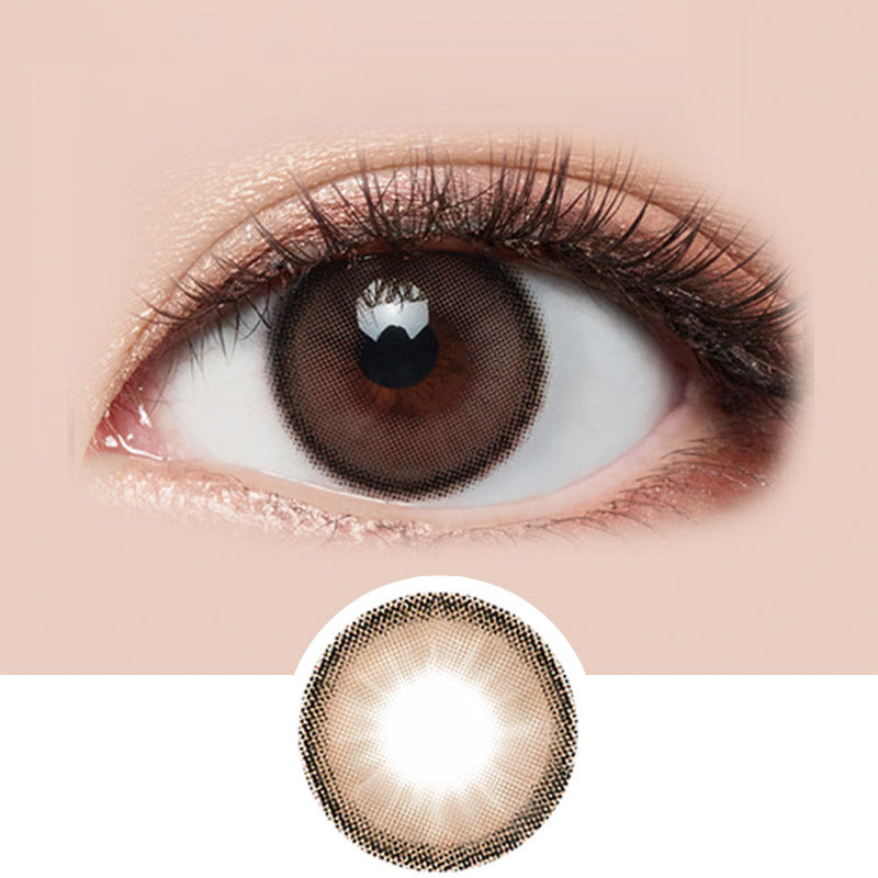 LensMe Holoris Mousse Choco colored contacts circle lenses - EyeCandy's