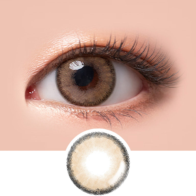 LensMe Make Look Blonty Brown colored contacts circle lenses - EyeCandy's