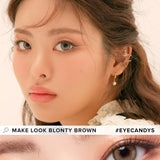 Load image into Gallery viewer, LensMe Make Look Blonty Brown colored contacts circle lenses - EyeCandy's
