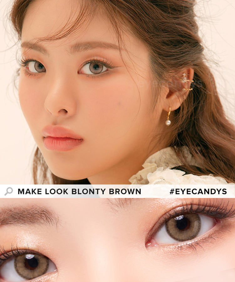 Buy LensMe Make Look Blonty Brown Colored Contacts | EyeCandys
