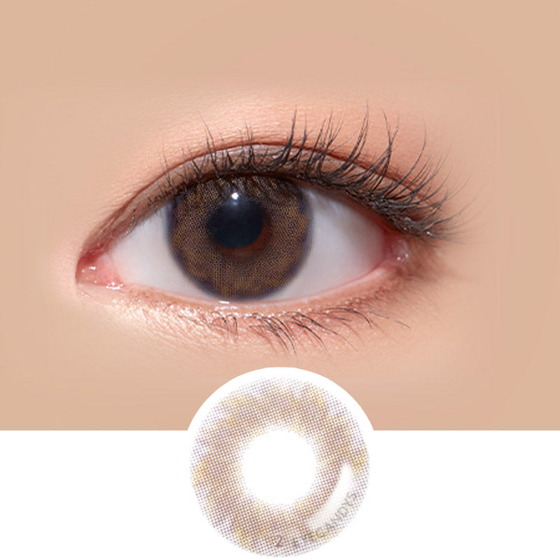 LensMe Make Look Dearble Brown colored contacts circle lenses - EyeCandy's
