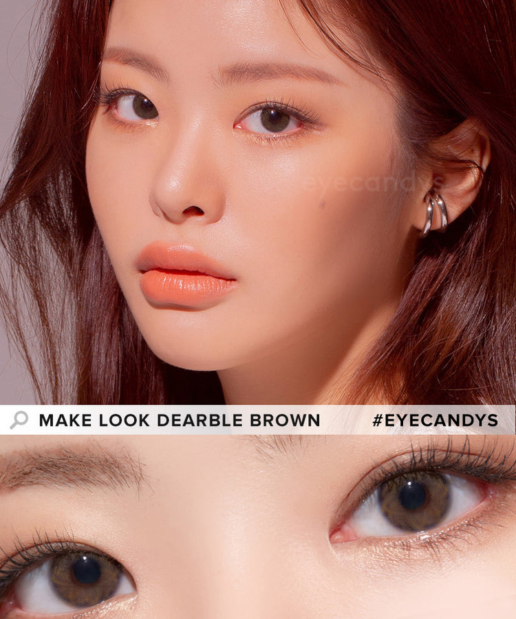Buy LensMe Make Look Toric Dearble Brown Colored Contacts | EyeCandys