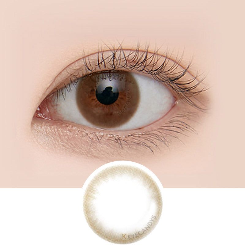 LensMe Makeover Evenity Brown colored contacts circle lenses - EyeCandy'sr