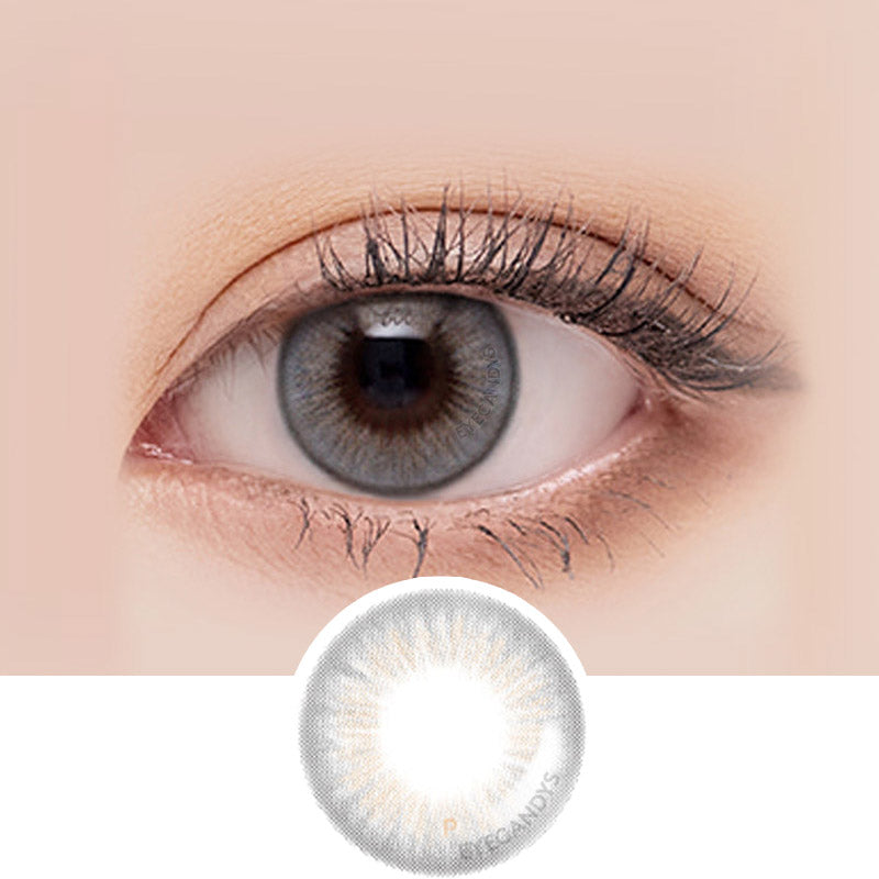 LensMe Makeover Politan Grey colored contacts circle lenses - EyeCandy's