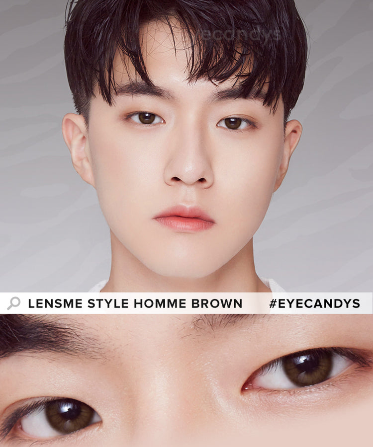 Buy LensMe Style Homme Brown Circle Lenses | EyeCandys