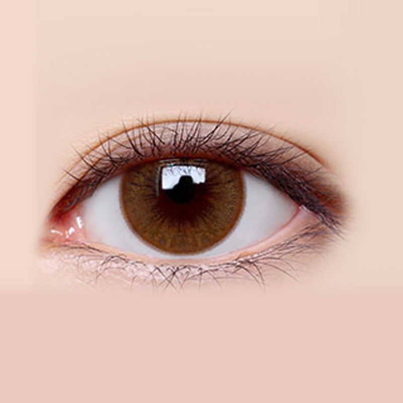 LensMe Velvet Pop Brown colored contacts circle lenses - EyeCandy's