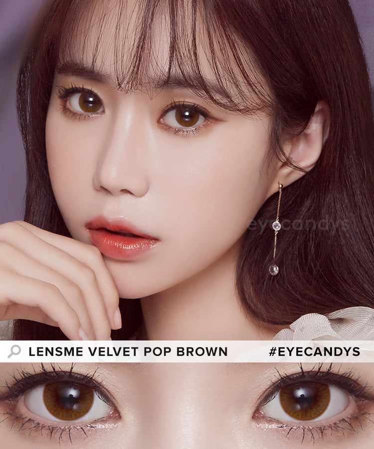 Buy LensMe Velvet Pop Brown Colored Contacts | EyeCandys