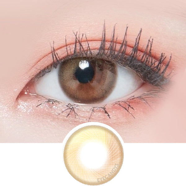Lenstown Lighly Mellow Brown colored contacts circle lenses - EyeCandy's