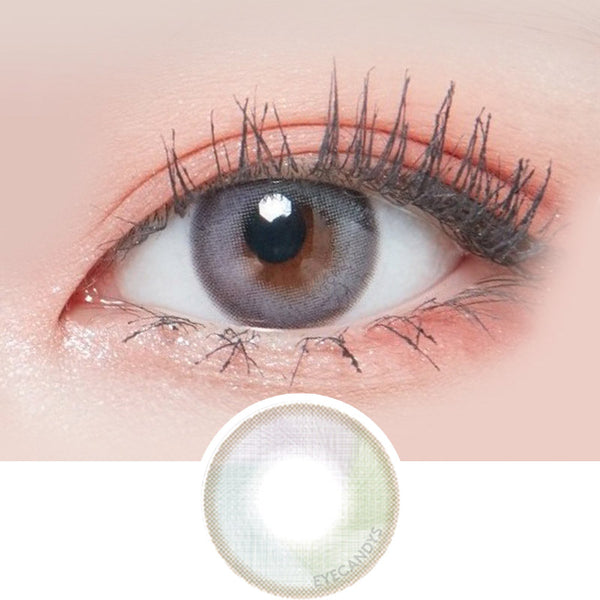 Lenstown Lighly Mellow Grey colored contacts circle lenses - EyeCandy's