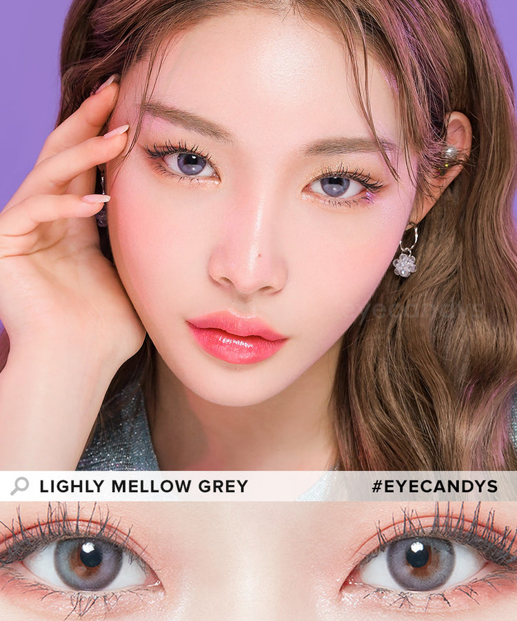 Buy Lenstown Lighly Mellow Grey Colour Contact Lenses | EyeCandys