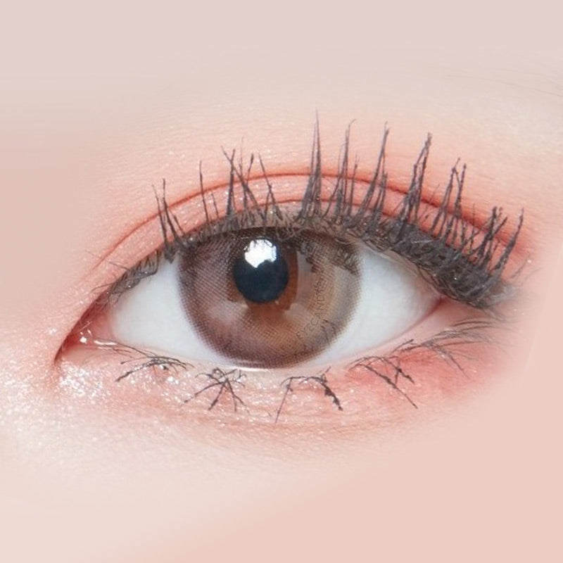 Lenstown Lighly Mellow Pink colored contacts circle lenses - EyeCandy's